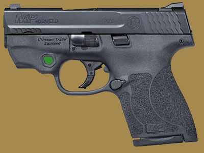 Пистолет  Smith & Wesson M&P40 Shield M2.0 Integrated Crimson Trace Green Laser NTS