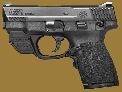 Пистолет  Smith & Wesson M&P45 Shield M2.0 Crimson Trace Green Laserguard