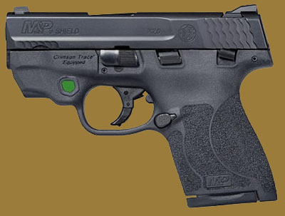 Пистолет  Smith & Wesson M&P9 Shield M2.0 Integrated Crimson Trace Green Laser