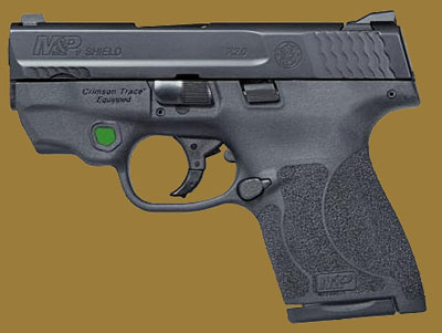 Пистолет  Smith & Wesson M&P9 Shield M2.0 Integrated Crimson Trace Green Laser NTS