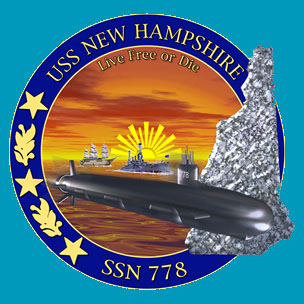 Эмблема АПЛ Нью-Гемпшир ССН-778 (USS New Hampshire SSN-778)