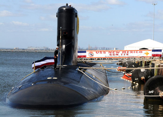 АПЛ Нью-Мексико ССН-779 (USS New Mexico SSN-779) на швартовке