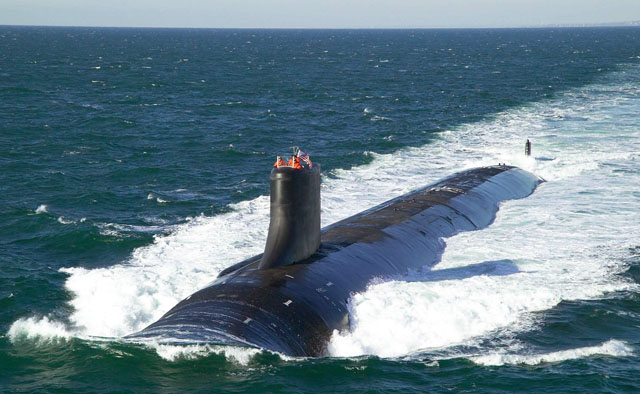 АПЛ Джимми Картер ССН-23 (USS Jimmy Carter SSN-23) на плаву